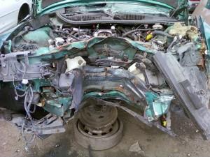 Smashed 1997 Firebird - Engine View