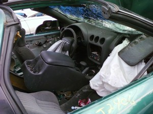Smashed 1997 Firebird - PS Interior View